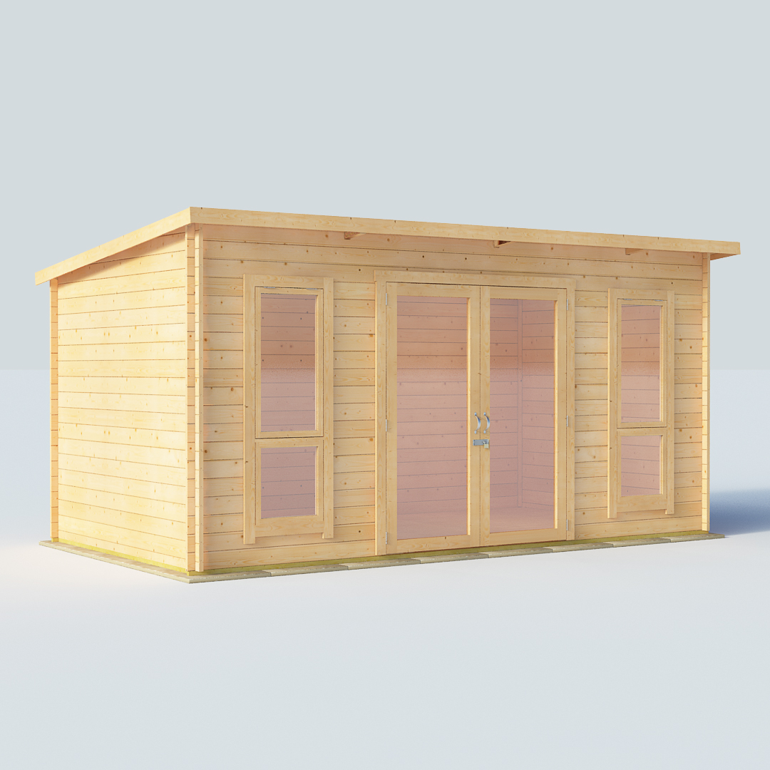 14x8 28mm T G Pent Windowed Billyoh Carmen Log Cabin