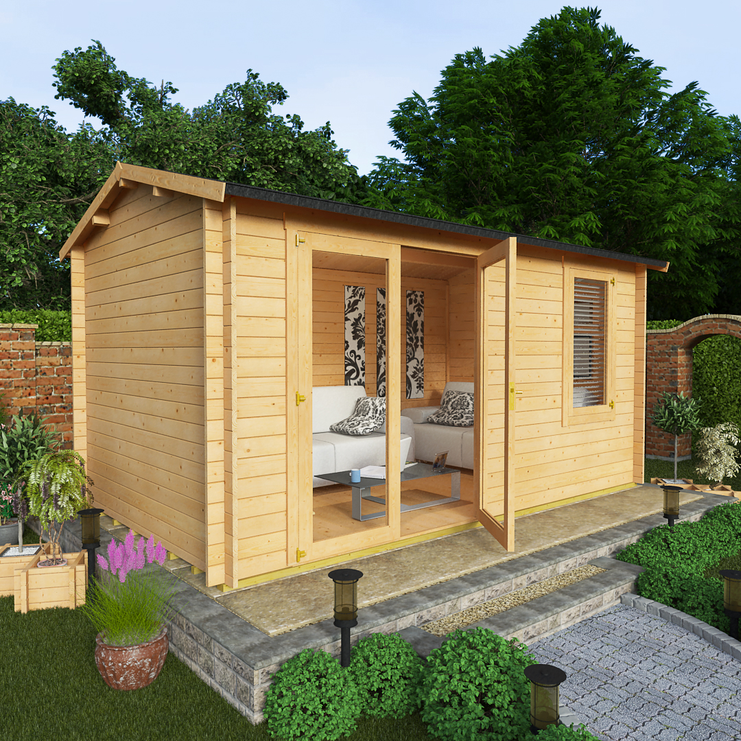 Billyoh 4 5 x 2 5 28mm devon garden log cabins log cabins for Garden shed 5 x 4