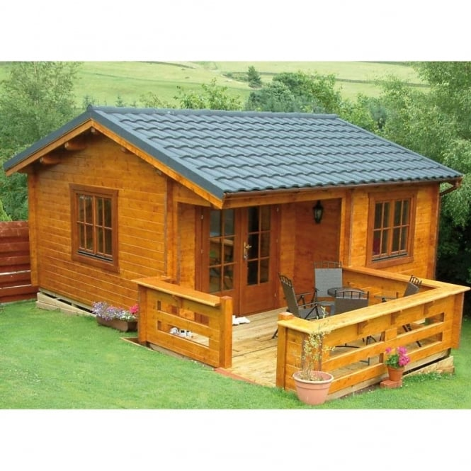 Utah 45mm Wall Log Cabin From SimplyLogCabins.co.uk, By