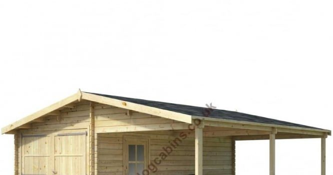 Garage and carport from simplylogcabins by tiaga