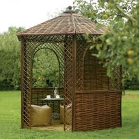 Rowlinson Willow Natural Gazebo with Assembly Service