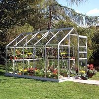 B&Q 6x10 Horticultural glass Apex Greenhouse