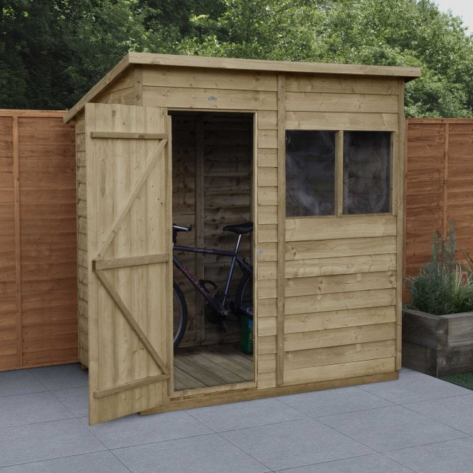 Overlap Pressure Treated 6 x 4 Pent Shed