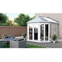 Euramax Victorian Glass Roof Full Glass Conservatory - 10 x 9 ft