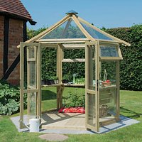 Forest Garden 8 x 9 ft Pressure Treated Wooden Frame Glass House with Installation