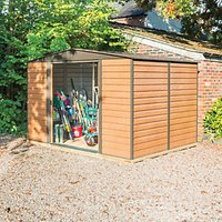 Rowlinson 10 x 8 ft Woodvale Large Double Door Metal Apex Shed including Floor
